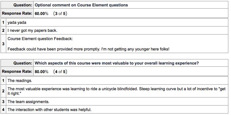 Image: Sample Survey Responses