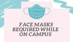 Face masks required on campus