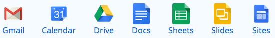 Google Core Apps Gmail, Calendar, Drive