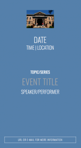 Sample Event Screen