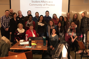 Student Affairs gathers to celebrate Ruby's Auggie Pride Award